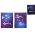 "Inspirational ""Dreams""/""Shine"" Light Up Canvas Print"