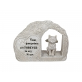 Angel Wings Cat Memorial Stone Plaque