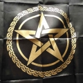 Pentagram Altar Cloth (Black)