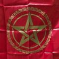 Pentagram Altar Cloth (Red)