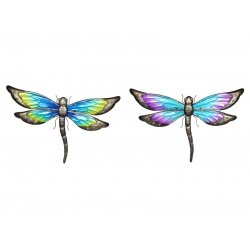 Metal & Glass Garden Dragonfly Wall Art