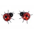 Metal Ladybug Wall Plaque (Small)