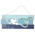 Mermaid Wall Plaque with Message