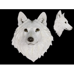White Wolf Head Wall Art (Large)