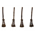 Witches Broomstick with Silver Magic Symbol